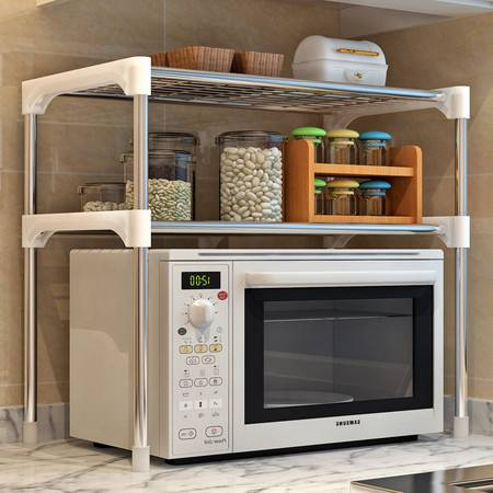 索尔诺厨房/浴室多功能2层置物架微波炉层架
