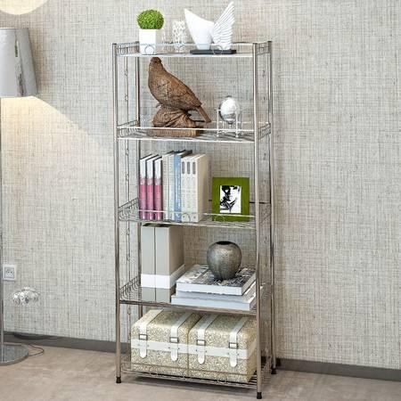 索尔诺不锈钢厨房置物架 浴室卫生间角架 卧室落地层架 收纳架子Z655