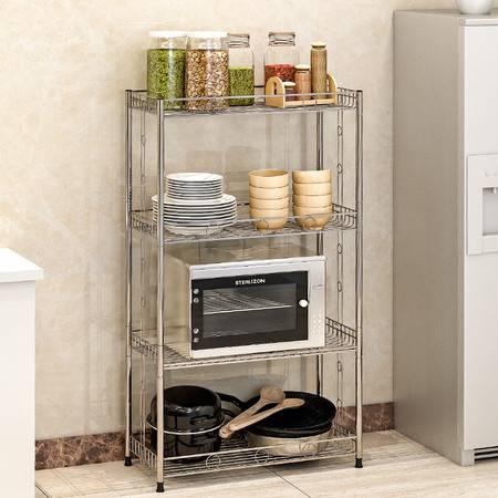 索尔诺不锈钢厨房置物架 浴室卫生间角架 卧室落地层架 收纳架子Z654