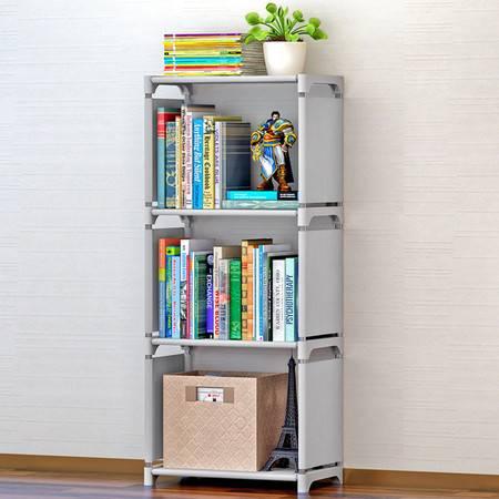 索尔诺简易书架 书柜置物架 创意组合层架子 落地儿童书橱sxsj104