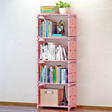 索尔诺简易书架 书柜置物架 创意组合层架子 落地儿童书橱sxsj105