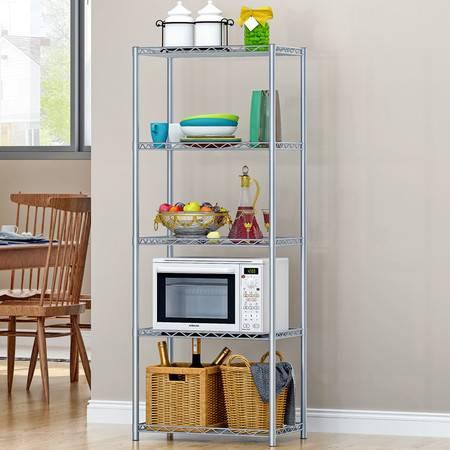 索尔诺五层厨房/浴室/金属收纳架/书架/防锈创意置物架Z5 预售9月24号发货