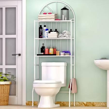 索尔诺 厕所卫生间马桶架 浴室洗手间层架置物架子落地壁挂收纳架Z713