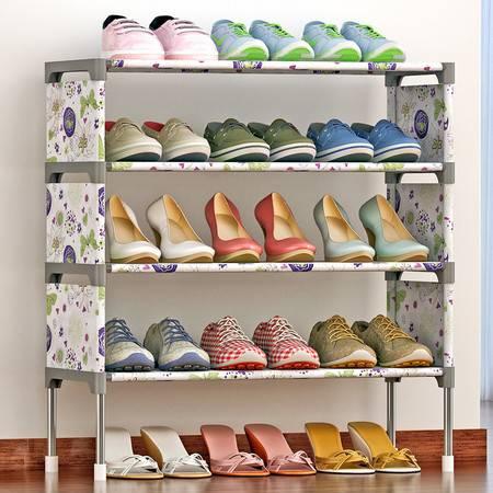 索尔诺 简易多层鞋架 组装防尘鞋柜简约现代经济型铁艺收纳架K125