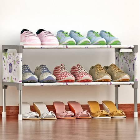 索尔诺 简易多层鞋架 组装防尘鞋柜简约现代经济型铁艺收纳架K123