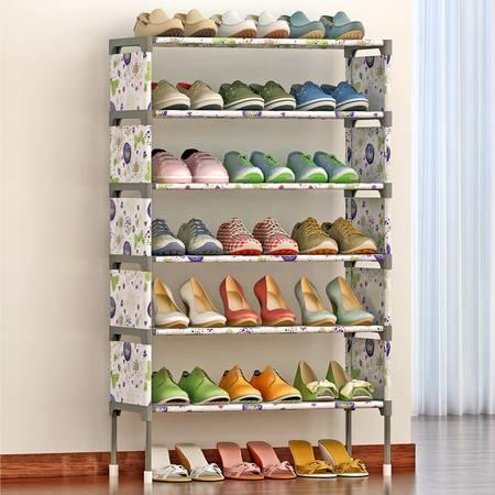 索尔诺 简易多层鞋架 组装防尘鞋柜简约现代经济型铁艺收纳架K127
