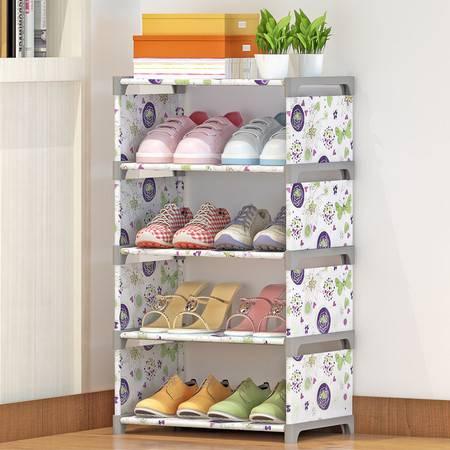 索尔诺鞋架简易鞋柜加厚加固防尘多层收纳创意简约布鞋柜