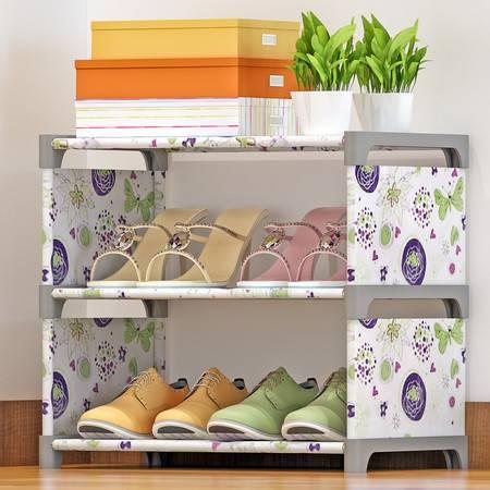 索尔诺鞋架简易鞋柜加厚加固防尘多层收纳创意简约布鞋柜包邮