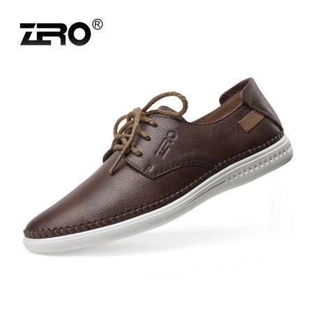Zero零度 高端纯手工男鞋 休闲皮鞋 头层牛皮 男士时尚板鞋 63922