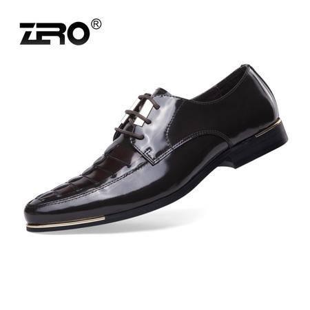 Zero零度 新品高端 商务正装鞋 英伦时尚潮流男士皮鞋头层皮63910
