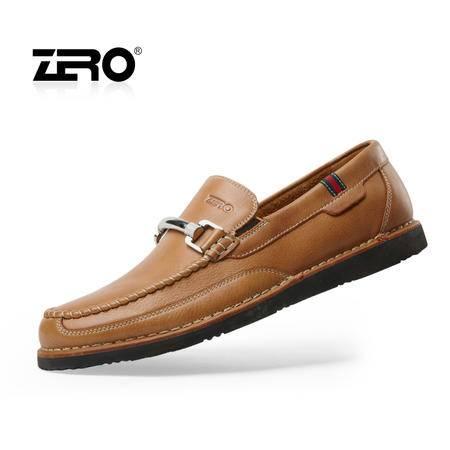 Zero零度 新品男鞋 男士日常皮鞋 时尚潮流休闲鞋 商务套脚 63966