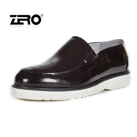 Zero零度春季新款男鞋 日常休闲潮鞋 男式时尚板鞋 真皮单鞋 63912