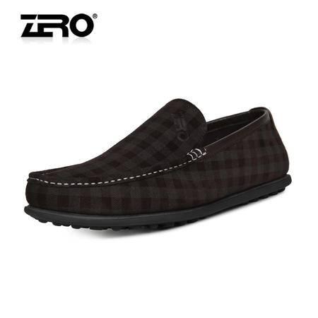 ZERO零度 2014新品 豆豆鞋 时尚潮流男休闲鞋 按摩真皮男鞋 63959