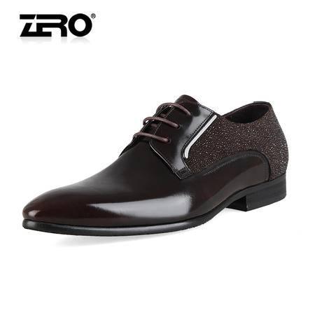 Zero/零度尚品 高档正装皮鞋 英伦商务男鞋 时尚珍珠鱼纹 98381