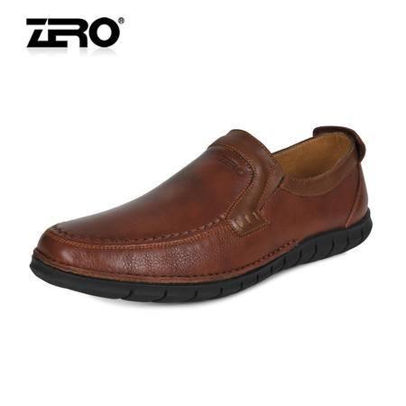 Zero零度 时尚休闲皮鞋 高端柔软舒适手工鞋 懒人套脚驾车鞋63968