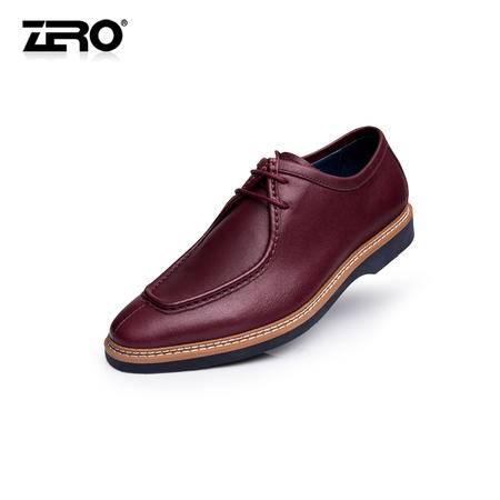 Zero零度新款真皮手工男鞋潮流时尚商务正装皮鞋英伦风潮鞋F6527