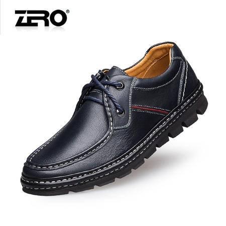 Zero零度新品商务休闲鞋手工缝线潮流男鞋男皮鞋6540