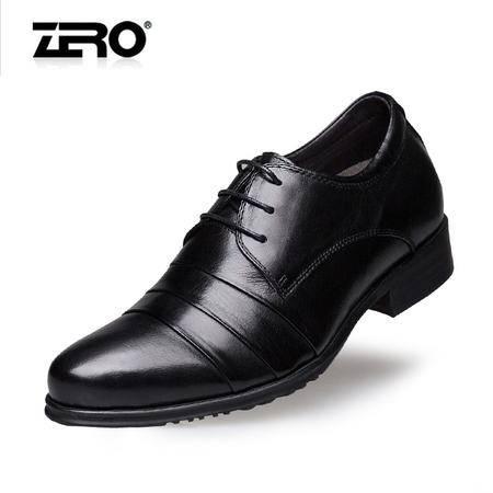 Zero零度秋冬新品 内增高商务皮鞋 正装皮鞋 隐形内增高 65026