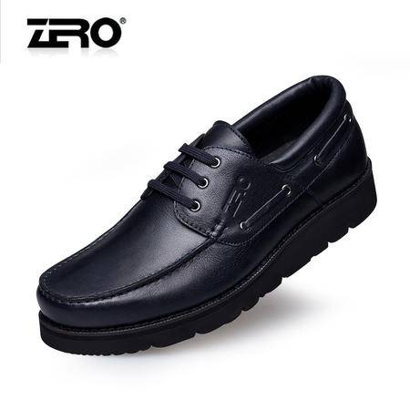 Zero零度 高端商务男鞋 厚底增高鞋 头层超软皮舒适男鞋子F6521