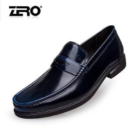 Zero零度2014秋季新款正装皮鞋真皮商务乐福鞋英伦风结婚鞋65023