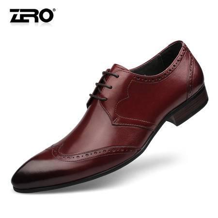 zero零度男士布洛克雕花男鞋真皮透气正装皮鞋英伦时尚潮鞋63985