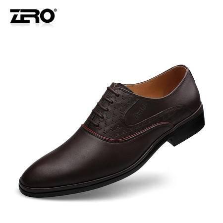 Zero零度秋季新品商务正装皮鞋英伦风潮流男鞋男士结婚鞋子F6525
