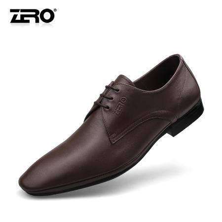 Zero零度新品正装皮鞋英伦风时尚潮鞋男士婚鞋高端皮鞋男款63946