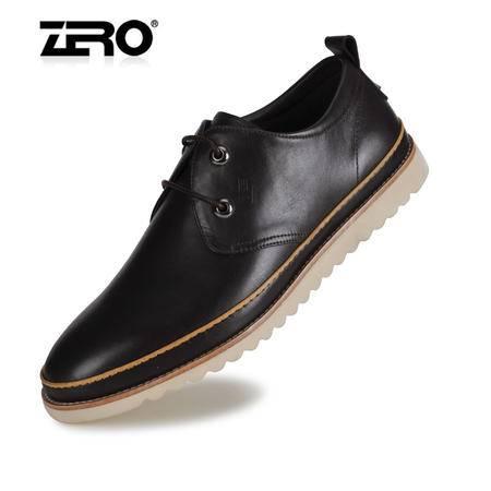 Zero零度牛皮板鞋高端男士休闲鞋英伦风潮流轻质皮鞋63950