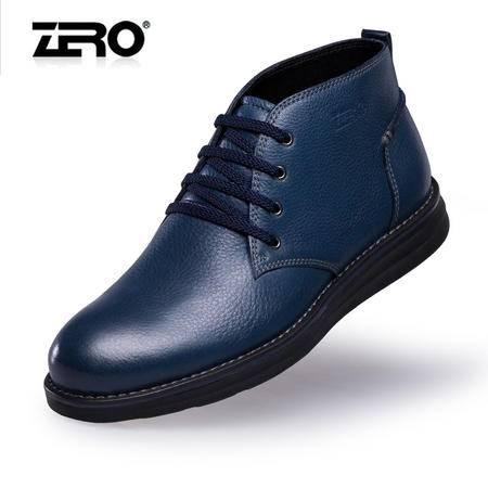 Zero零度秋冬新品皮靴英伦风潮流商务真皮男靴厚底牛皮靴子F6585