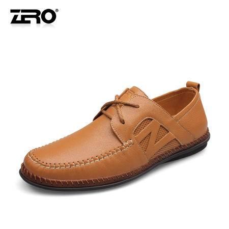 Zero零度2014新款潮流男鞋手工真皮韩版休闲皮鞋时尚软单鞋F6513