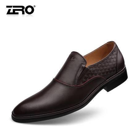 Zero零度新款商务正装皮鞋英伦风潮流时尚男鞋F6523