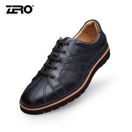 Zero零度新款手工男士休闲鞋英伦风时尚男鞋真皮潮流低帮鞋F6526