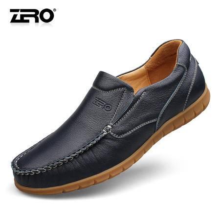Zero零度正品秋季休闲鞋潮流男鞋真皮手工软底鞋舒适懒人鞋F6509