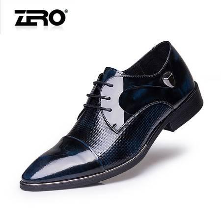 Zero零度秋季新款正装皮鞋真皮潮流时尚男鞋尖头商务鞋婚鞋F6556