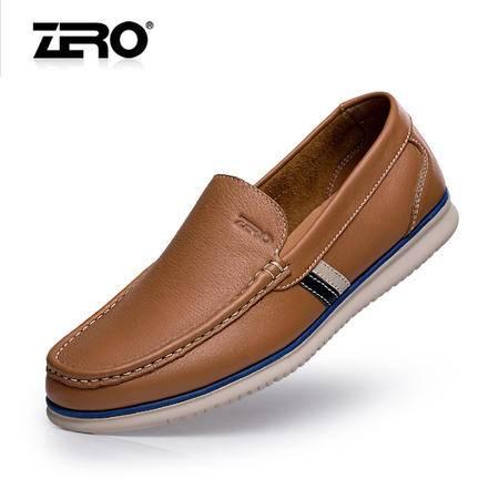 Zero零度休闲皮鞋2015春季新款男鞋真皮套脚舒适高端休闲鞋F8995