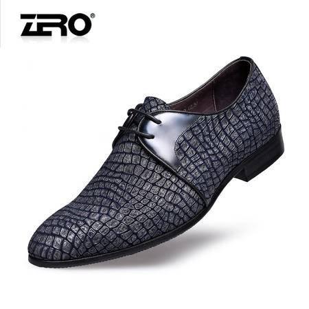 Zero零度春夏新品商务皮鞋头层羊皮时尚正装男鞋真皮男士婚鞋8957