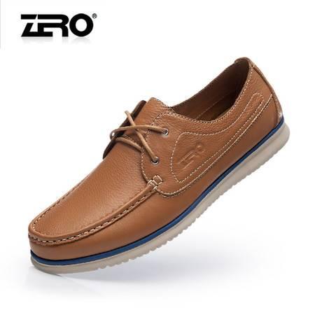 Zero零度高端休闲鞋2015春季新款皮鞋真皮手工潮流商务男鞋F8996