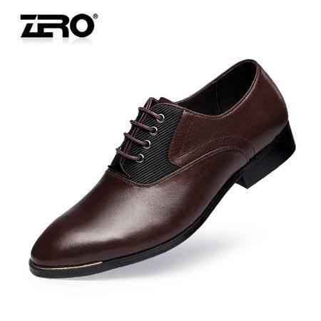 Zero零度英伦正装皮鞋2015春季新品胎牛皮尖头商务男鞋婚鞋F8935