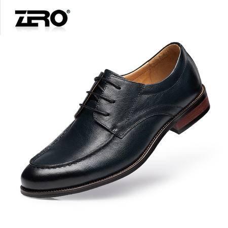 Zero零度正装皮鞋新品男士英伦商务鞋头层皮男士皮鞋男鞋子F8953