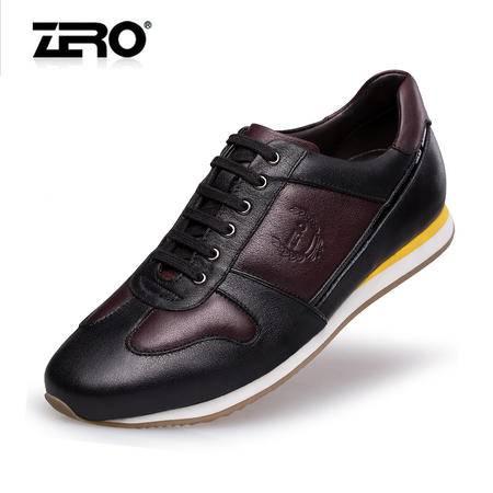 Zero零度专柜同款春季新品运动休闲鞋高端潮流拼接男鞋皮鞋F6570