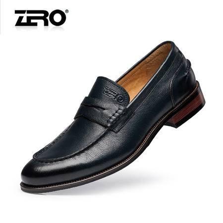 Zero零度正装皮鞋新款男士真皮尖头英伦商务男鞋高端乐福鞋F8952