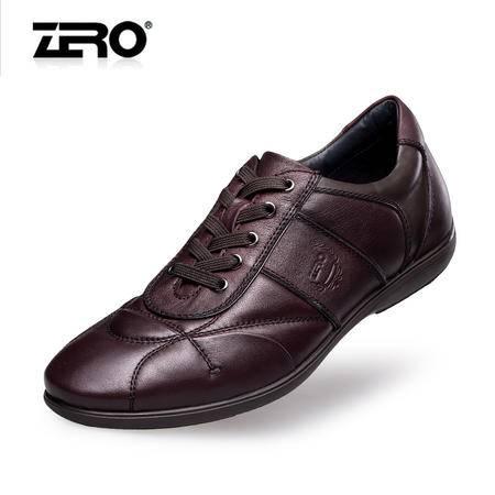 Zero零度高档休闲皮鞋春季新品商场同款潮流男士商务休闲鞋F6571