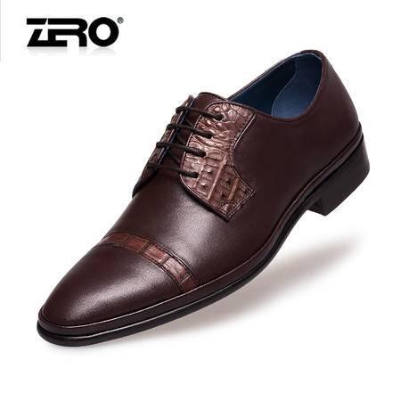 Zero零度专柜同款高端正装皮鞋流行男鞋男士皮鞋头层牛皮 F6529