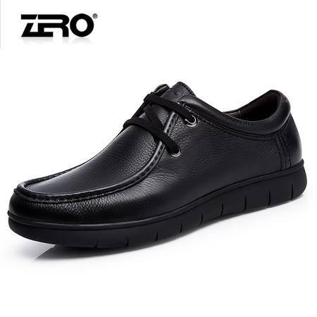 Zero零度2015秋季新品男鞋厚底减震舒适真皮透气男士商务休闲皮鞋F5250