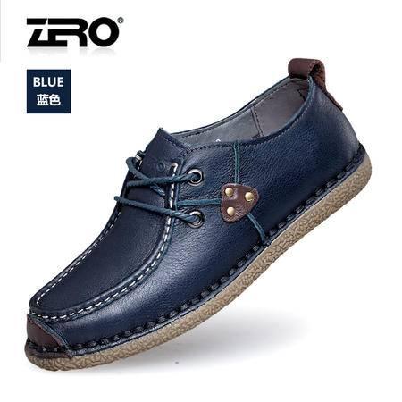 Zero零度商务休闲鞋夏季新品真皮时尚商务休闲皮鞋男士鞋子