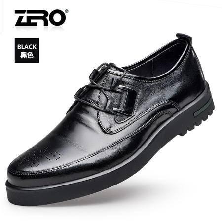 Zero零度休闲男鞋2016春款潮鞋布洛克时尚商务男鞋男士休闲皮鞋