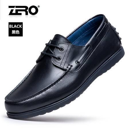 Zero零度男鞋孝心鞋智能健步鞋新品豆豆鞋商务皮鞋透气爸爸鞋春款