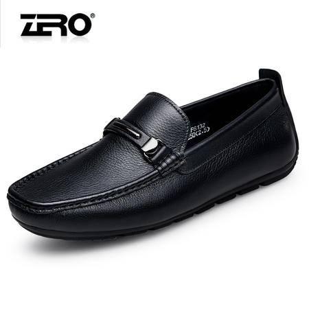 Zero零豆豆鞋男春季新款舒适套脚豆豆鞋男士皮鞋时尚休闲鞋男