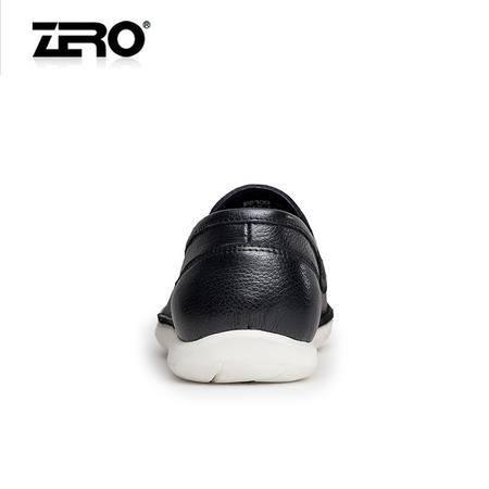 Zero零度2016春季新品休闲鞋男士套脚商务休闲皮鞋时尚低帮男鞋