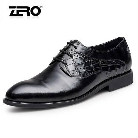 Zero零度正装皮鞋2016新品时尚真皮低帮男士皮鞋系带正装男皮鞋子